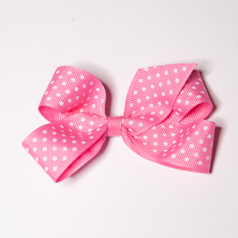 Pink Polka Dot Bow - Clippy