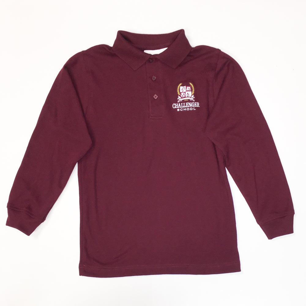 Boys Polo - Long Sleeve (Interlock Knit)