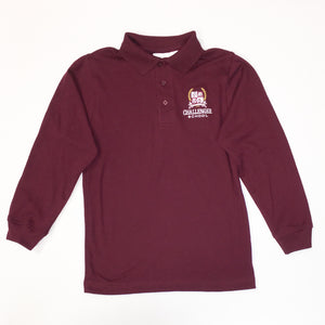 Boys Polo - Long Sleeve (Interlock Knit IN STOCK)