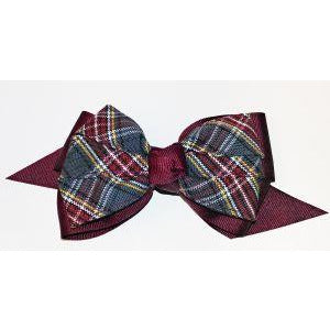 Plaid Pinwheel Bow - Large (Qty 1)