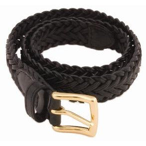 Belt - Braided Leather - Black