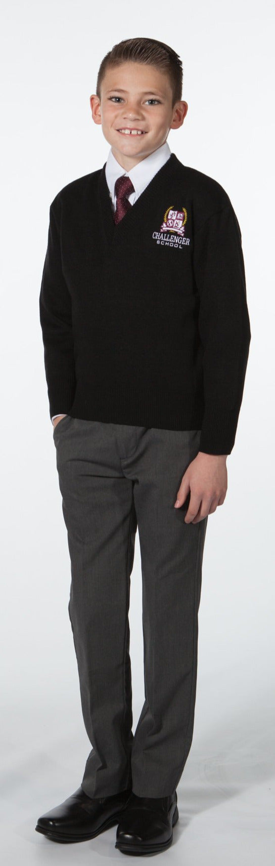 Boys Pullover Sweater - Black