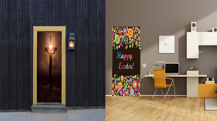 Easter fabric door covers from DoorFoto™