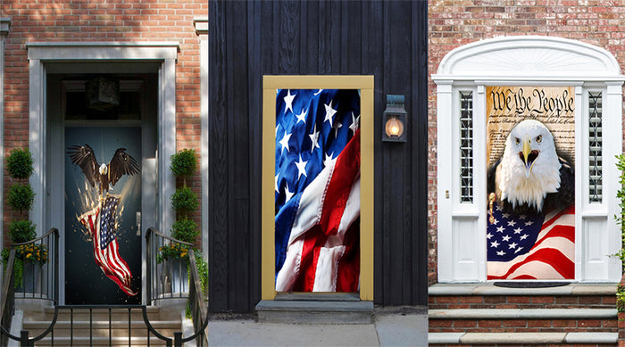 July 4th fabric door covers