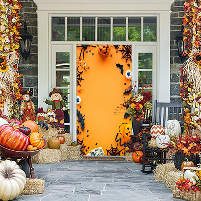 Halloween Backdrop Door Cover