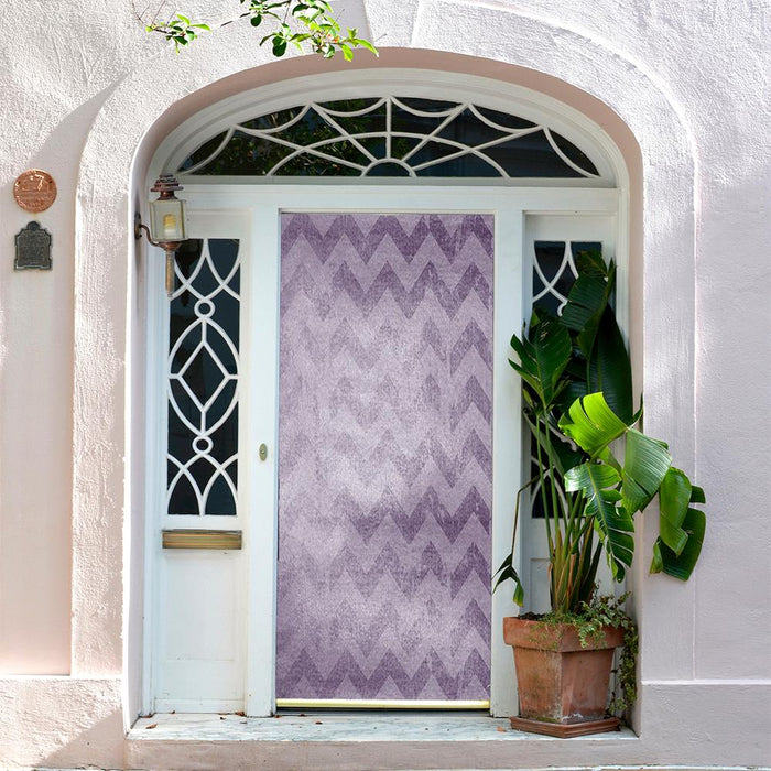 Purple ZigZag Background Door Decor
