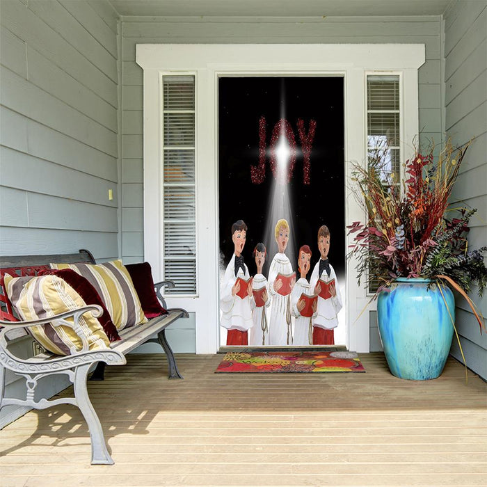 Christmas Carolers Door Cover