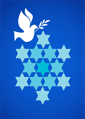 Hanukkah White Dove