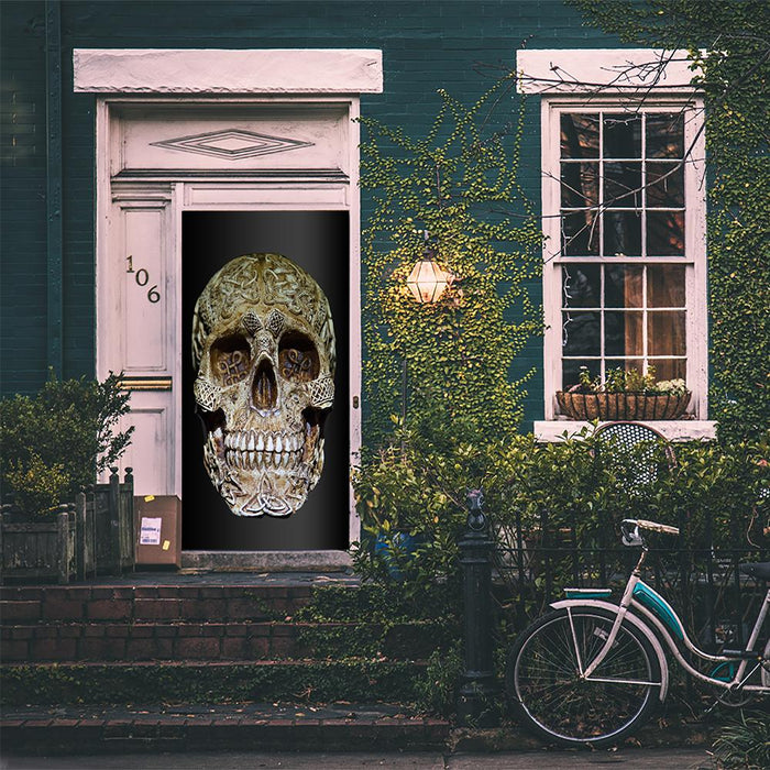 Lifelike Skull Door Decoration