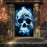 Moonlit Skull Door Decoration