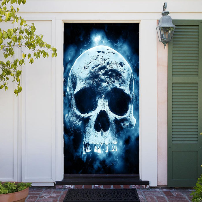 Moonlit Skull Door Cover