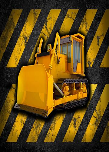 Bulldozer Door Banner