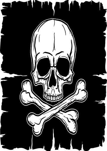 Classic Skull and Crossbones, Door Cover - Door Decoration