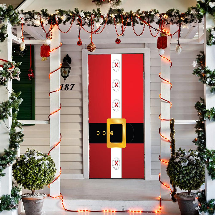 Santa's Belt Front Door Decor