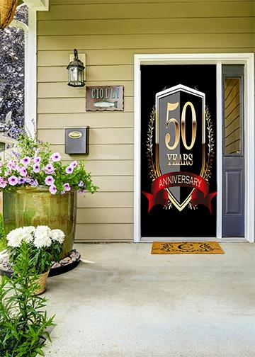 50th year anniversary fabric door cover