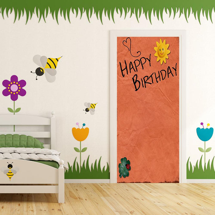 Happy Birthday - Orange Background