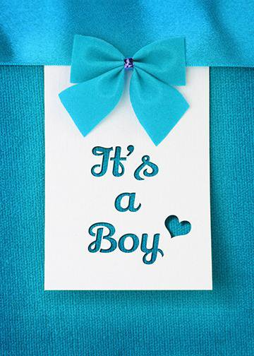 It's a Boy - Blue Bow