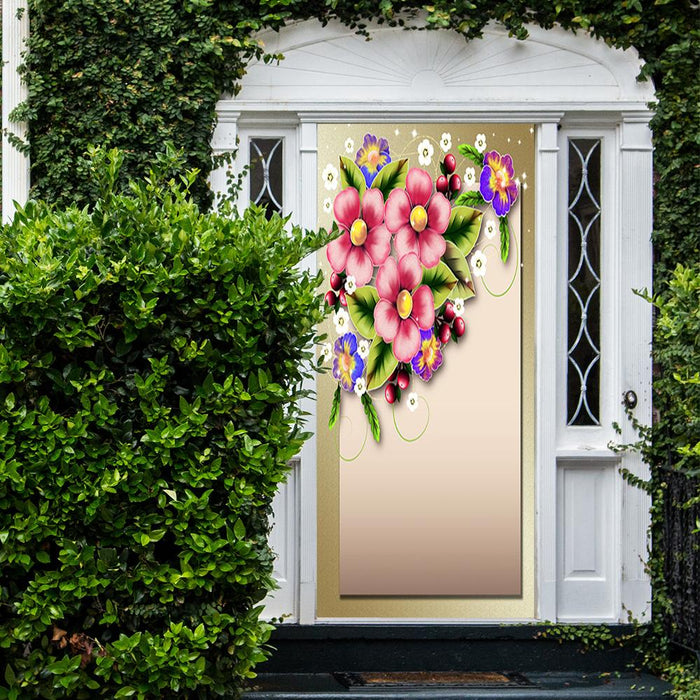 Easter Flowers Door Cover