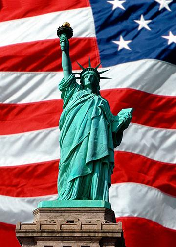 Old Glory and Lady Liberty