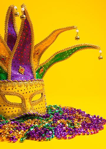 Mardi Gras Mask & Beads
