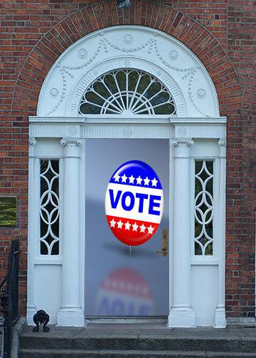 Voting Pin, DoorWrap - Door Decoration
