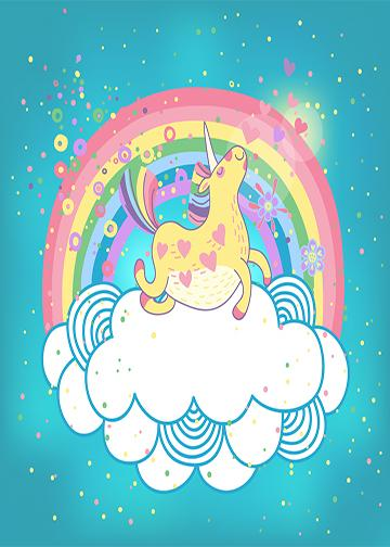 Rainbow Unicorn Banner