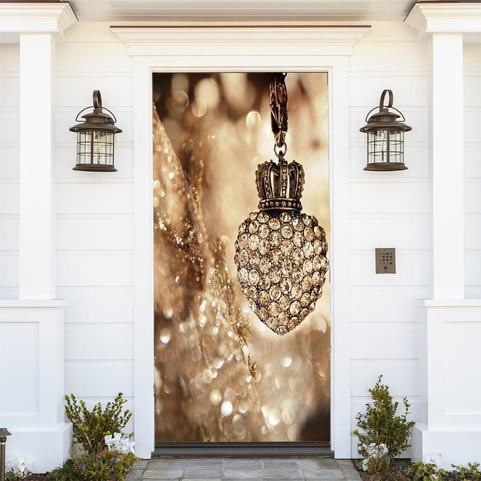 Christmas Gold Ornament Door Cover