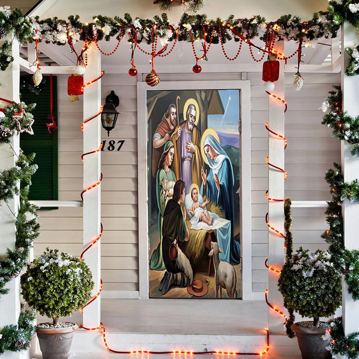 Nativity Scene Door Cover
