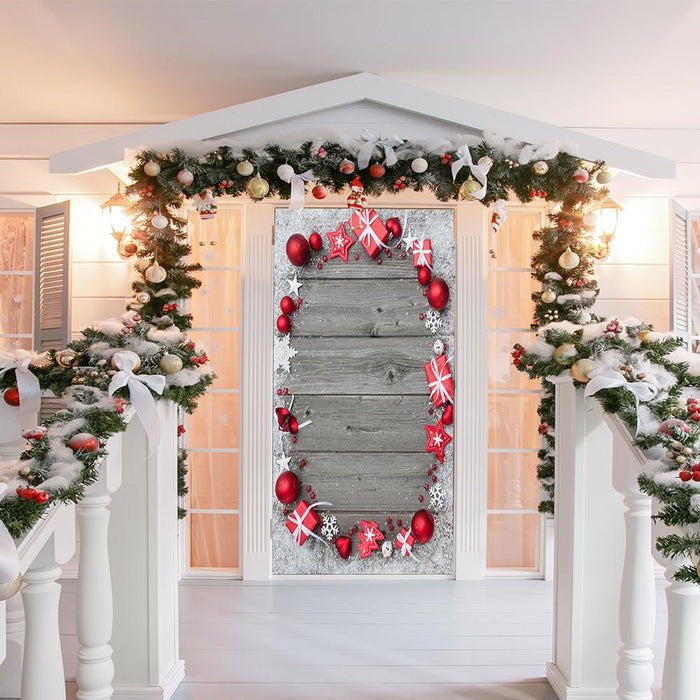 Festive Christmas Door Cover