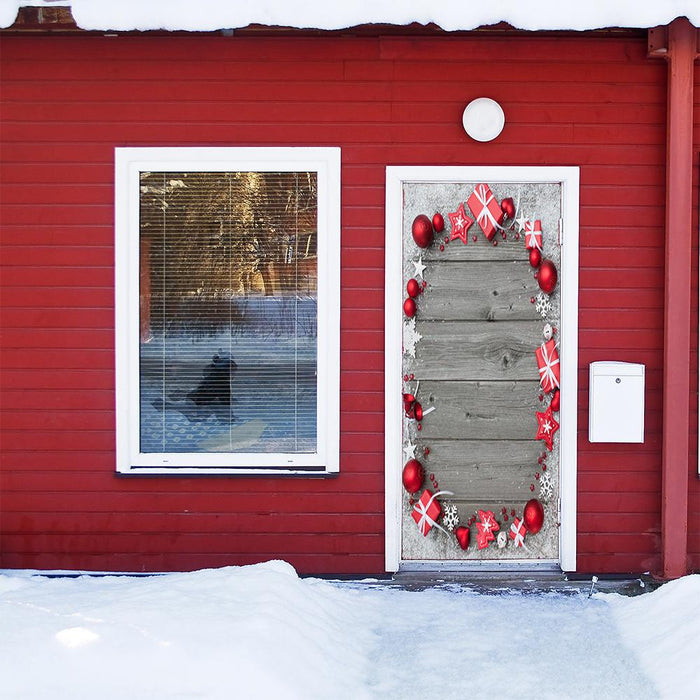 Festive Christmas Door Decor