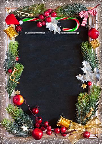 Customizable - Christmas Fabric Door Cover