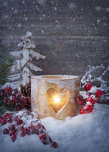 Winter Candle, DoorWrap - Door Decoration