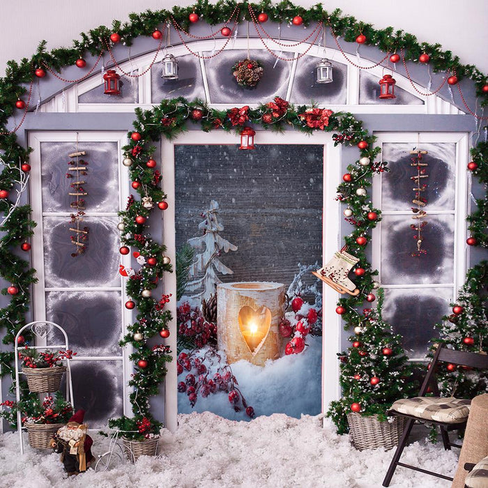 Winter Candle Door Cover