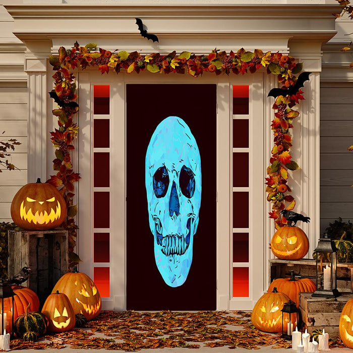 Glowing Skull Door Cover