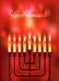 Menorah Candles Red Background
