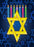Star of David & Menorah Candles, DoorWrap - Door Decoration