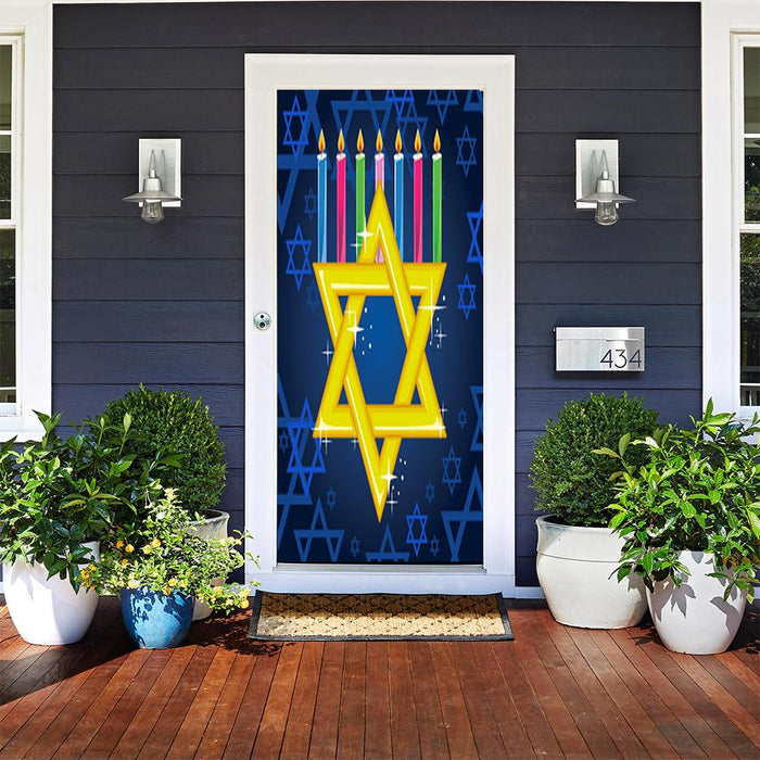 Star of David & Menorah Candles