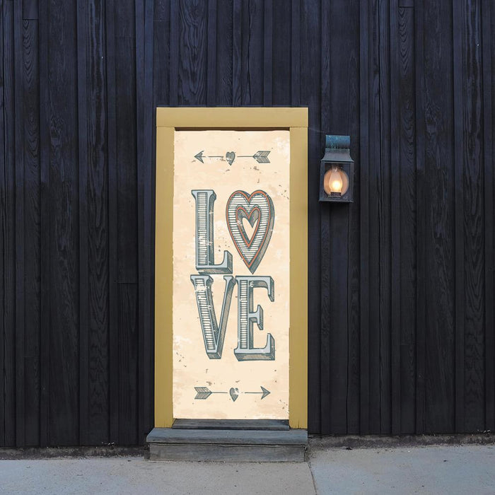 Love Poster Door Cover