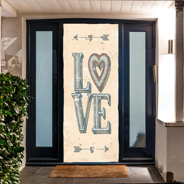 Love Poster Door Decor