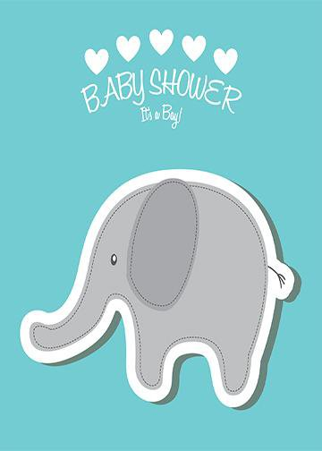 Baby Shower - Gray Elephant