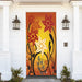 Fall Floral Sunset Door Decoration