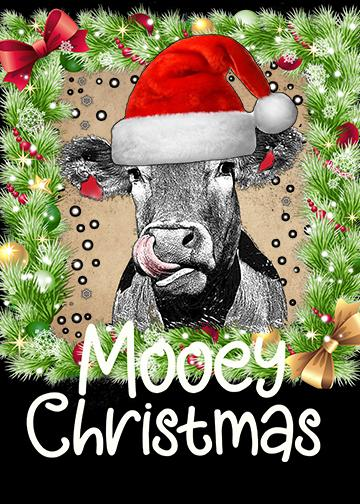 Cow with Holly