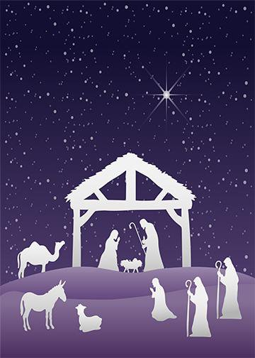 Nativity Scene Door Hanger