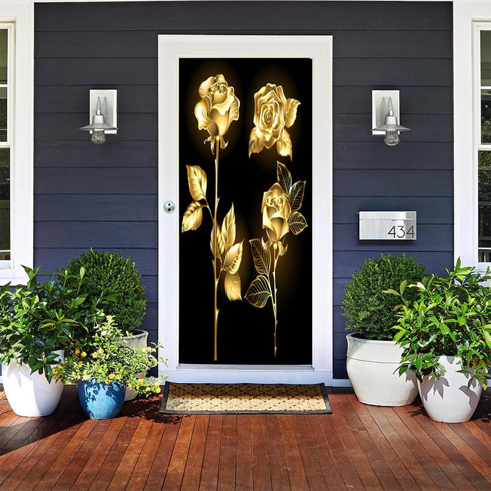 Golden Shimmer Door Cover