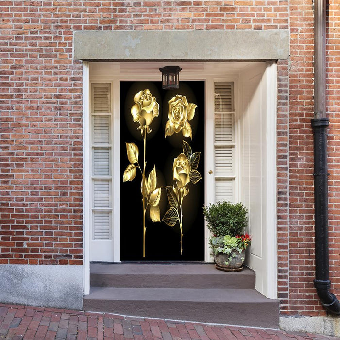Golden Shimmer Door Decor
