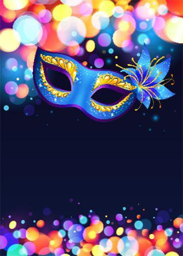 Customizable - Blue Mardi Gras Mask