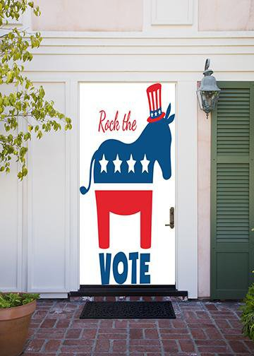 Rock the Vote Donkey, Door Cover - Door Decoration