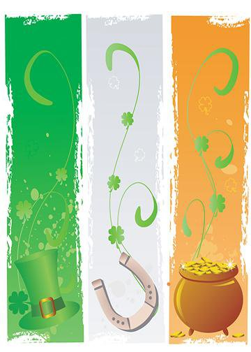 St. Patrick's Day Flag, DoorWrap - Door Decoration