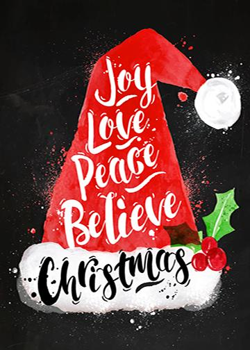 Joy, Love, Peace, Believe