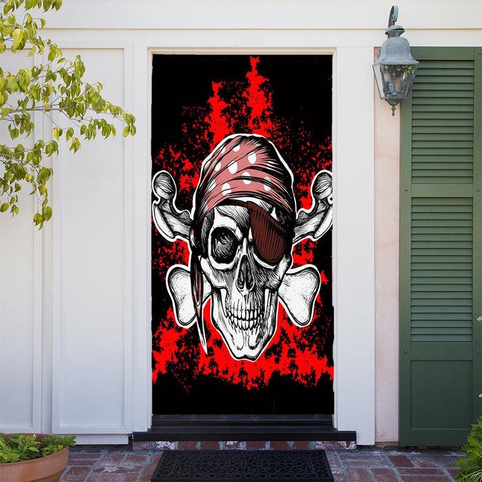 Pirate Party Decor Door Cover